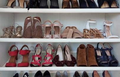 Spring shoe closet makeover
